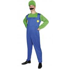 Costume de plombier vert adulte pas cher