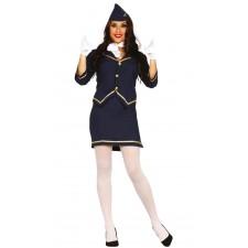 Costume d'hôtesse de l'air pour femme