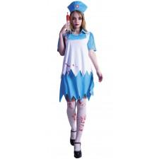 Costume d'infirmière sanglante femme pour Halloween