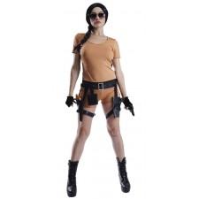 Costume aventurière style Lara Croft pour femme