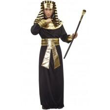 Costume de pharaon noir et or pour homme pas cher sur le thème de l'Égypte