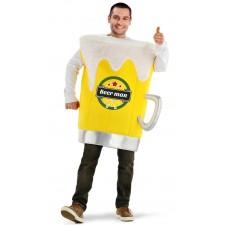 Costume adulte en forme de chope de bière thème alcool