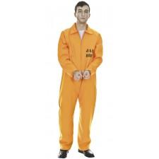 Costume de prisonnier américain orange pour adulte