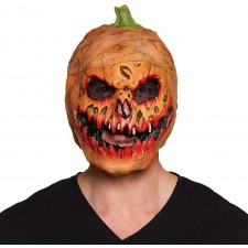 Masque effrayant de citrouille maléfique d'Halloween en latex pour adulte