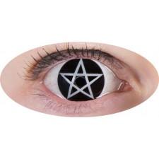 Lentilles Halloween croix satanique utilisables pendant 1 an