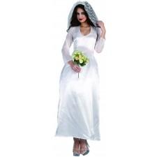 Costume robe de mariée blanche pour femme
