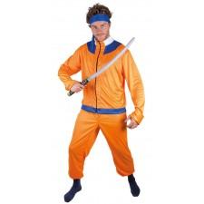 Déguisement manga orange et bleu pour adulte