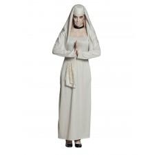 Costume Halloween de bonne sœur fantôme pour femme