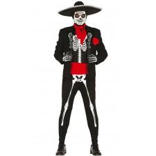 Costume de squelette mexicain sur le thème du Dia de los Muertos