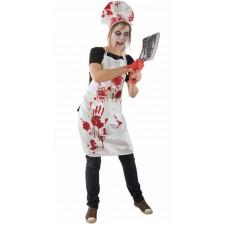 Costume femme boucher sanglant Halloween