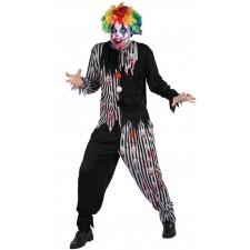 Costume effrayant de clown tueur spécial Halloween pour adulte