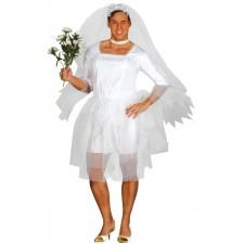 Costume composé d'une robe de mariée blanche pour homme idéal pour un EVG