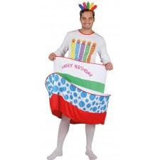 Costume en forme de gâteau d'anniversaire pour homme