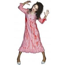 Costume de zombie femme en robe de chambre pour Halloween