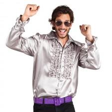 Déguisement chemise disco pour homme couleur argent