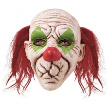 Masque intégral en latex très réaliste de clown tueur avec la bouche cousue pour adulte