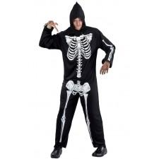 Costume pas cher de squelette pour homme spécial Halloween