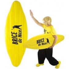 Planche de surfeur Brice de Nice gonflable jaune accessoire