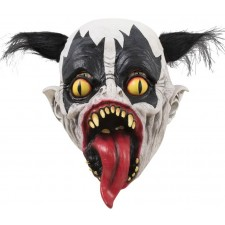 Masque adulte de clown maléfique pour accompagner un déguisement d'Halloween