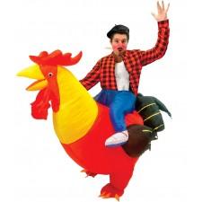 Costume de poulet gonflable carry-me