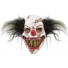 Masque adulte d'Halloween de clown squelette effrayant
