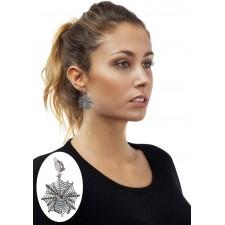 Boucles d'oreilles avec toiles d'araignées pour Halloween