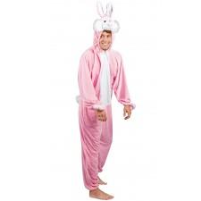 Costume de lapin rose original pour adulte
