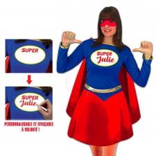 Costume femme de super-héros à personnaliser