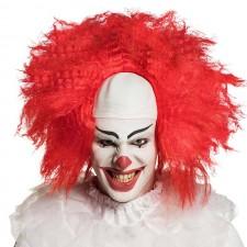 Perruque de clown adulte aux cheveux rouges Halloween