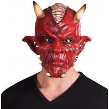 Masque de diable d'Halloween en latex réaliste pour adulte