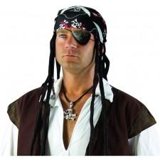 Bandana pirate pas cher avec têtes de mort