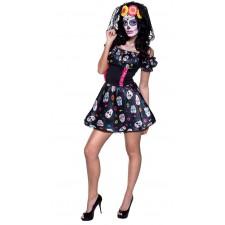 Costume femme sur le thème du Dia de los Muertos