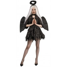 Costume femme d'ange déchu spécial Halloween