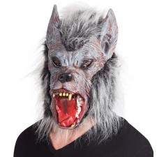 Masque intégral de loup garou en latex pour Halloween