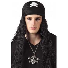 Collier avec une tête de mort géante pour accompagner un déguisement de pirate