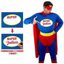 Costume de super-héros homme pas cher personnalisable