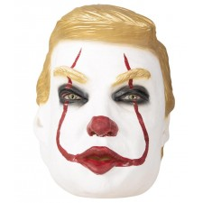 Masque de clown tueur trumpy intégral en latex