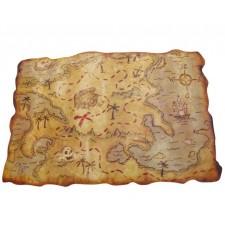 Carte aux trésors accessoire sur le thème des pirates