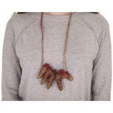 Accessoire d'Halloween collier avec 5 doigts sanglants