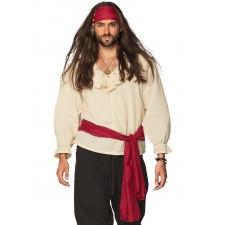 Pack d'accessoires contant un foulard rouge de pirate et une ceinture
