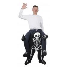 Costume de carry-me squelette d'Halloween pour adulte