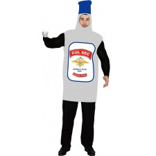 Costume en forme de bouteille de vodka pour adulte