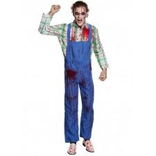 Costume d'Halloween pour homme de bûcheron tueur en série