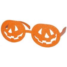 Lunettes Halloween orange en forme de citrouilles