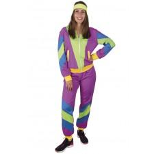 Costume femme sur les années 80 pas cher composé d'un survêtement