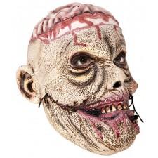 Masque de zombie d'Halloween avec le cerveau apparent intégral en latex