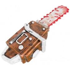 Accessoire d'Halloween fausse tronçonneuse avec taches de sang