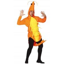 Costume de gambas crevette pour adulte sur le thème de la mer