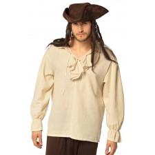 Costume chemise beige de pirate pour homme