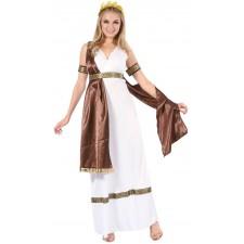 Costume de déesse grecque pour femme thème antiquité